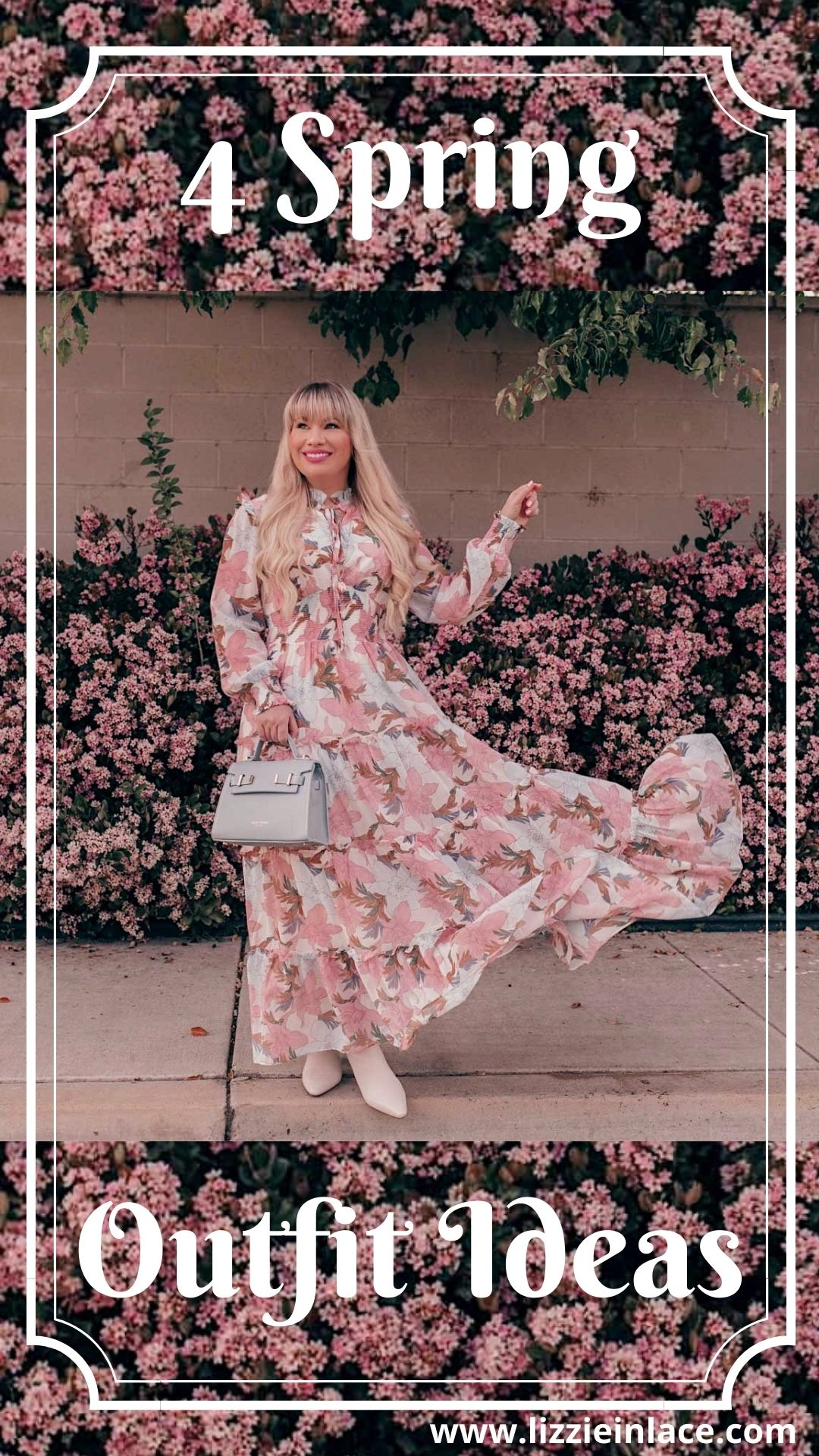 Feminine Fashion Blogger Elizabeth Hugen of Lizzie in Lace shares an updated Chicwish review and styles 4 spring outfit ideas