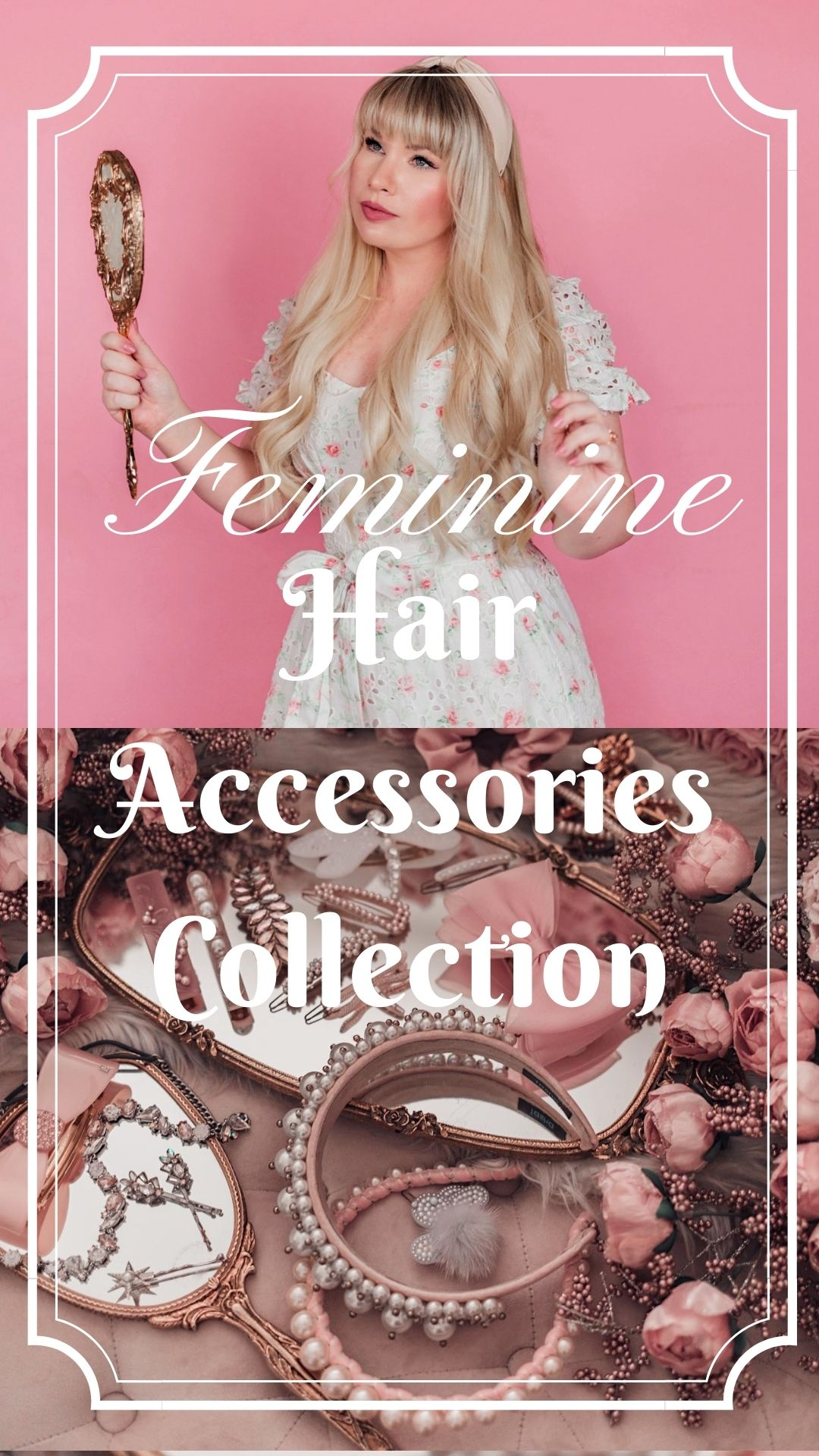 Feminine Fashion Blogger Elizabeth Hugen of Lizzie in Lace shares her feminine hair accessories collection