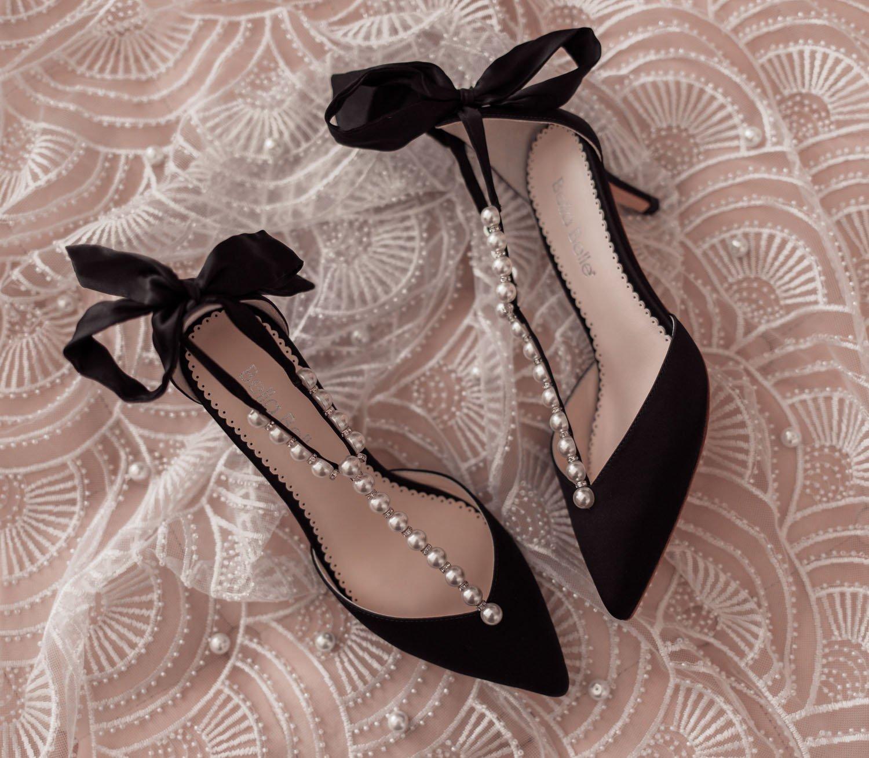 Feminine fashion blogger Elizabeth Hugen of Lizzie in Lace shares an honest Bella Bella Shoes Review and Feminine Shoe Haul including the Bella Belle black Lisa shoe