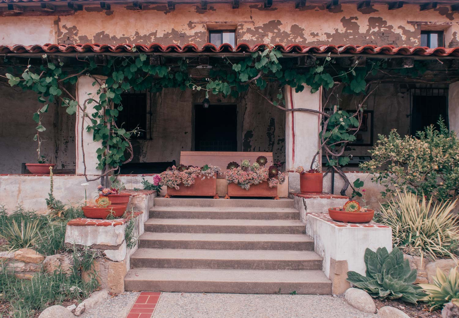 Fashion Blogger Elizabeth Hugen of Lizzie in Lace shares what to do in Carmel by-the-sea including exploring the Carmel Mission