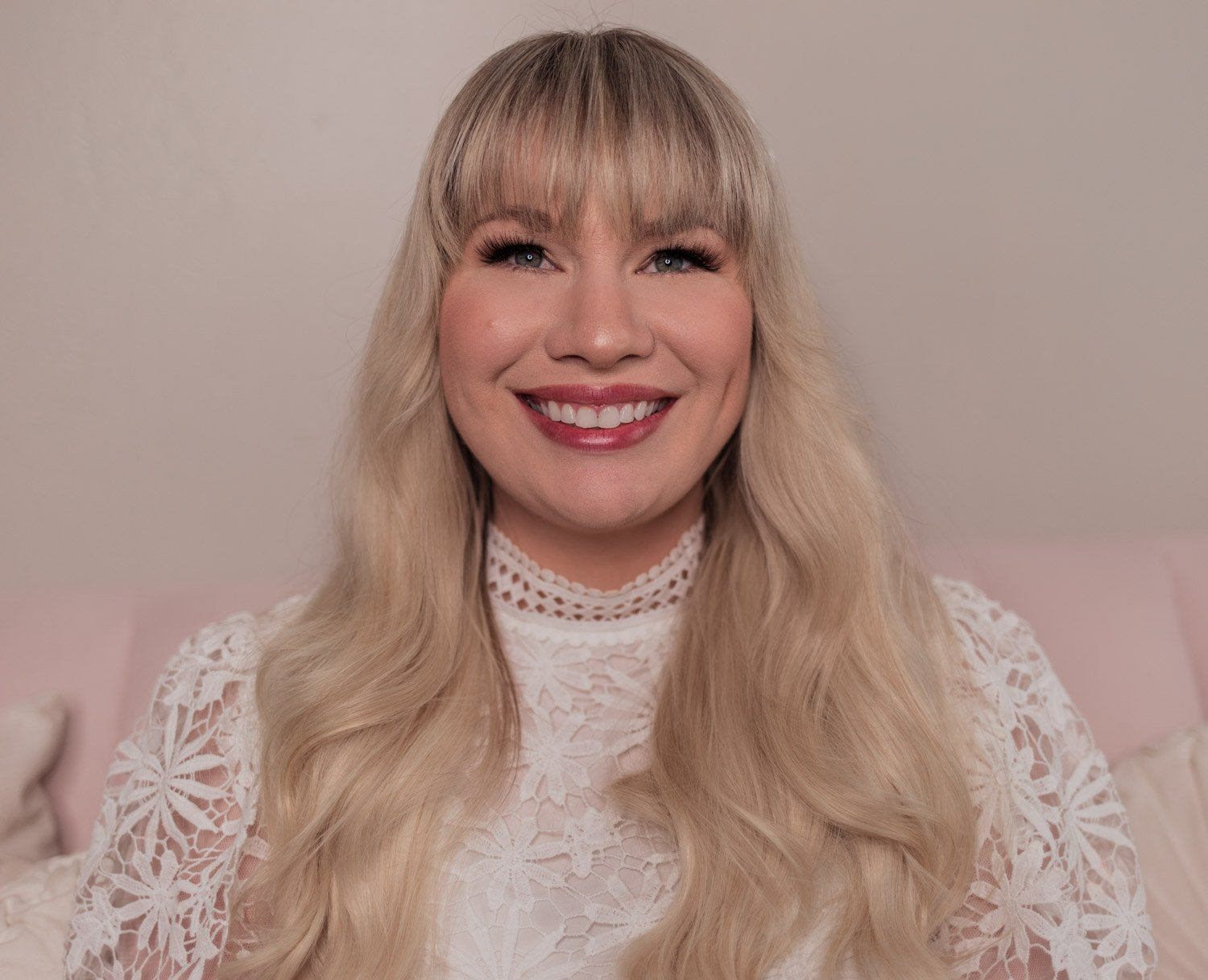 Feminine fashion and beauty blogger Elizabeth Hugen of Lizzie in Lace shares the Charlotte Tilbury Look of Love Collection Review and lipstick swatches including the Tinted Love Santa Euphoria lip and cheek tint