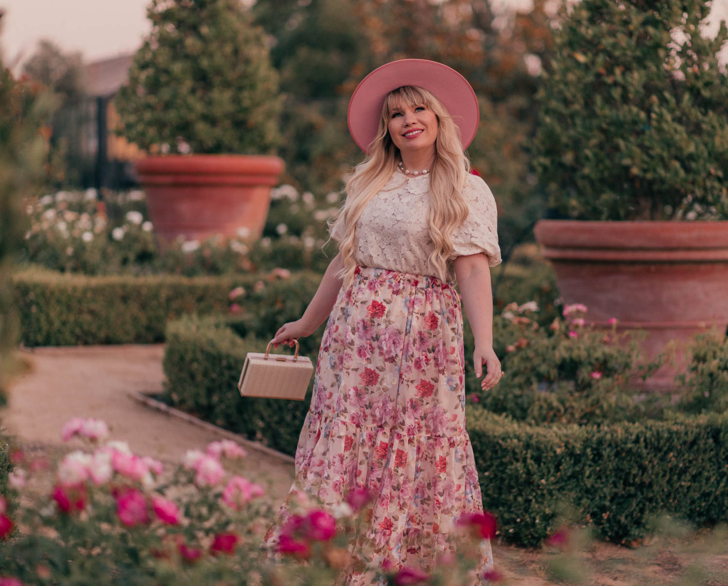 Feminine Fashion Blogger Elizabeth Hugen of Lizzie in Lace shares her top 5 Feminine Summer Essentials for the Girly Girl including a Lack of Color Rose Rancher Hat