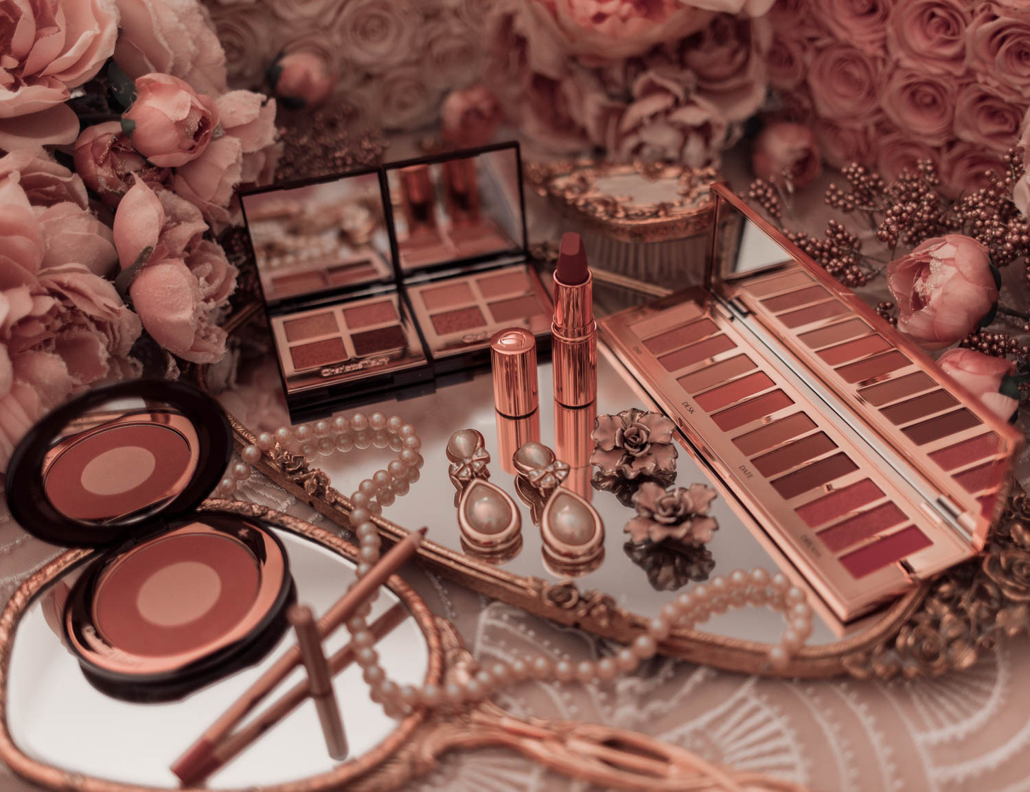 Feminine fashion and beauty blogger Elizabeth Hugen of Lizzie in Lace shares her honest Charlotte Tilbury Pillowtalk Collection Review
