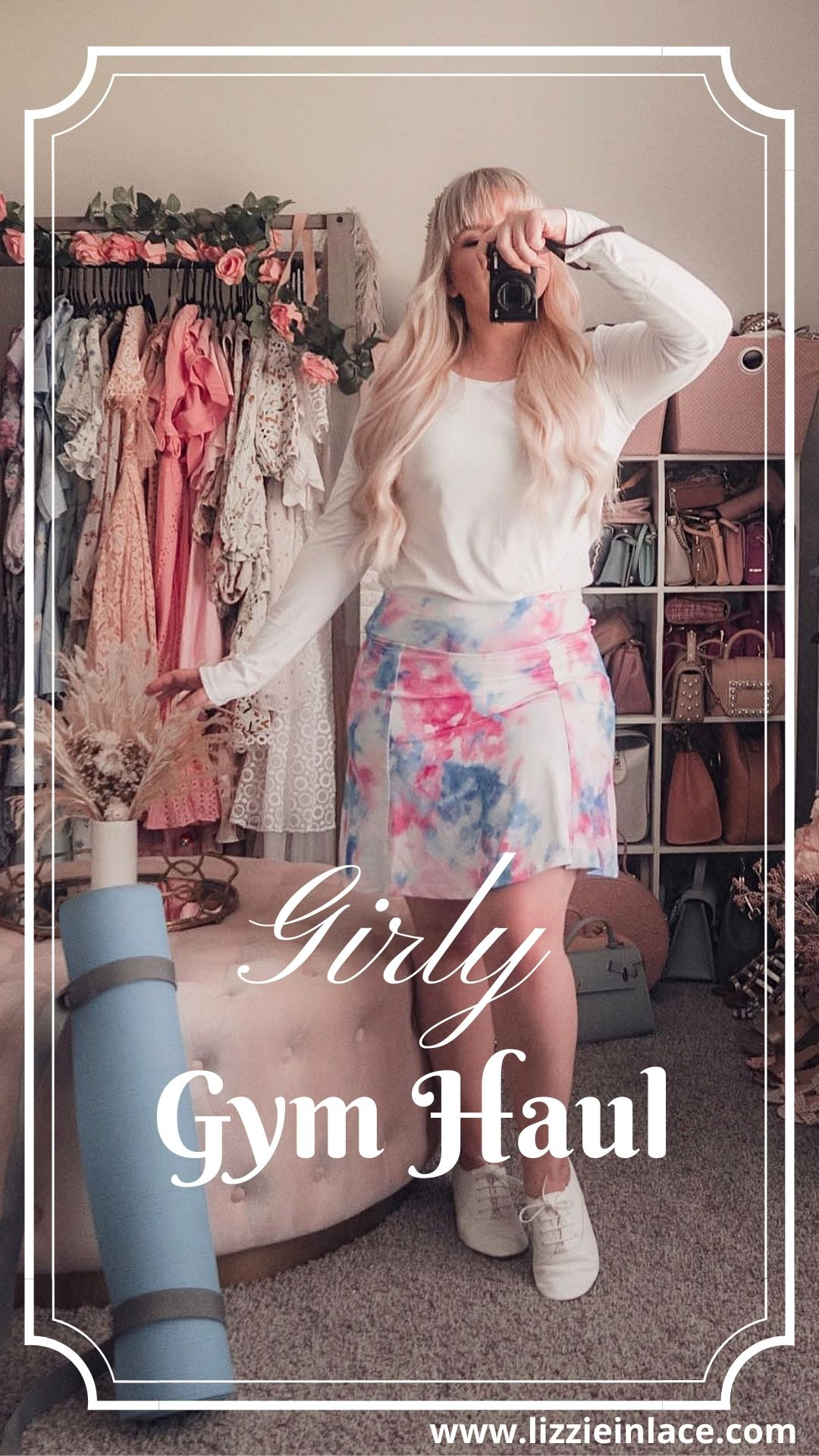 Feminine Fashion Blogger Elizabeth Hugen of Lizzie in Lace shares Where to Buy Cute Workout Clothes